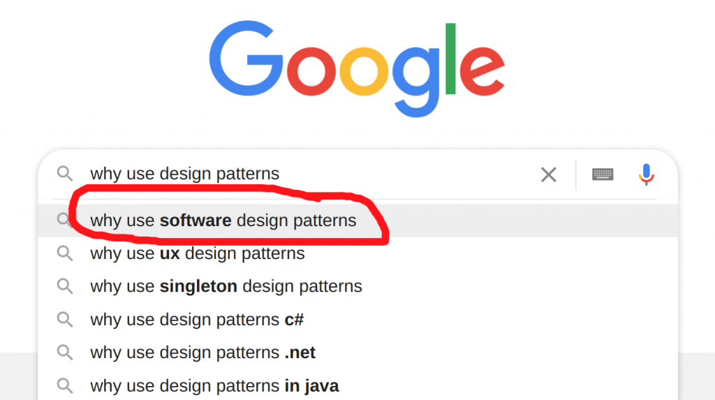 why use software design patterns